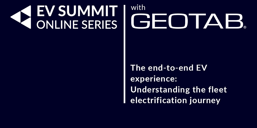 'The end-to-end EV experience' in partnership with Geotab