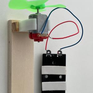 pil kutusu motor ve kablo bağlantısı