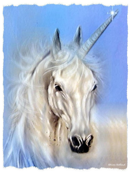A4 Unicorn Framed Print