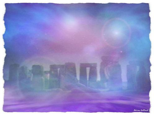 A3 Mystic Circle Framed Print