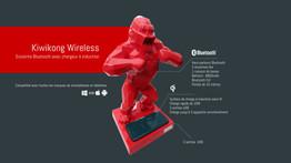 kiwikong Enceinte décorative Bluetooth et Chargeur à induction QI