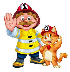 Scottie Firefighter & Kittie Wave