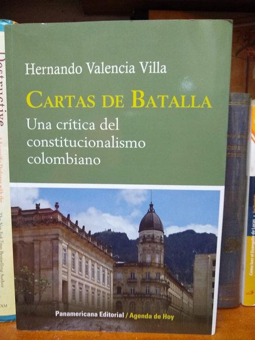 Cartas de Batalla. Hernando Valencia Villa