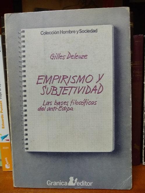 Empirismo y subjetividad. Gilles Deleuze