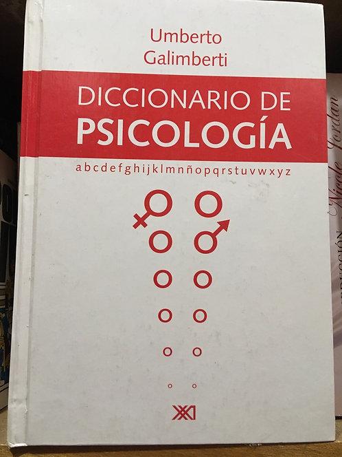 Diccionario de psicología. Umberto Galimberto