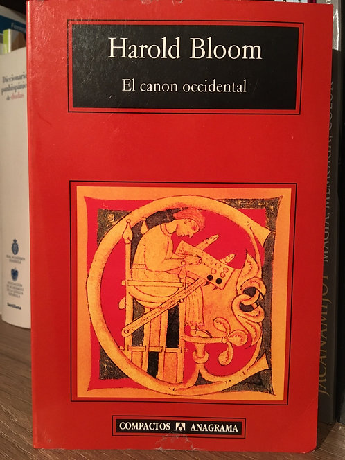 El canon occidental. Harold Bloom
