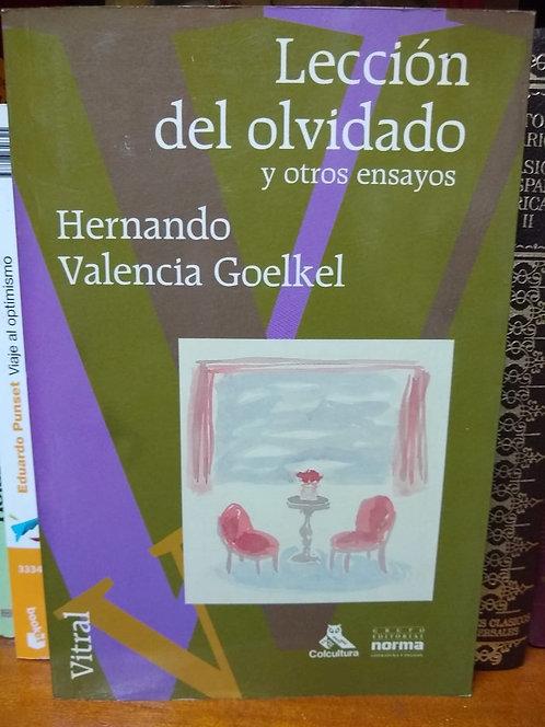 El libro del olvidado y otros ensayos. Valencia Goelkel