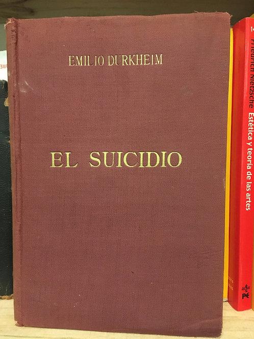 El suicidio. Emilio Durkheim