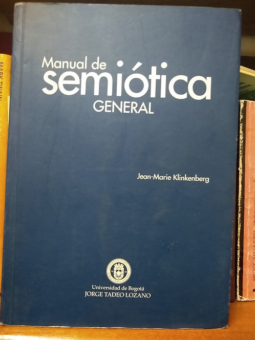 Manual de semiótica general