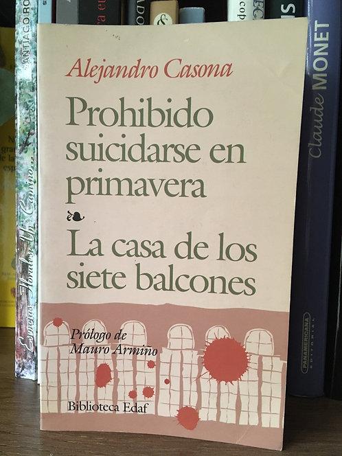 Prohibido suicidarse en primavera La casa de los siete balcones Alejandro Casona
