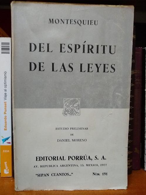 Del espíritu de las leyes. Montesquie