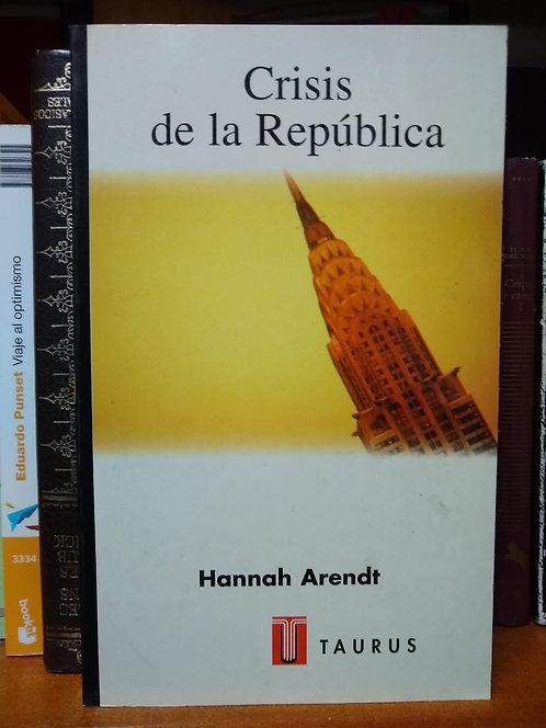 Crisis de la república. Hannah Arendt