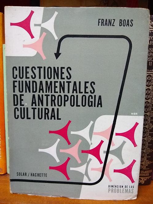 Cuestiones fundamentales de antropología cultural.Frank Boas