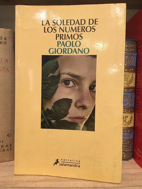 La soledad de los números primos. Paolo Giordano