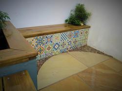 Moroccan Garden Bench