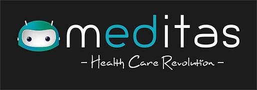 Meditas Oy:n kuvitettu logo
