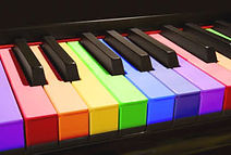 Colorful Piano Keyboard