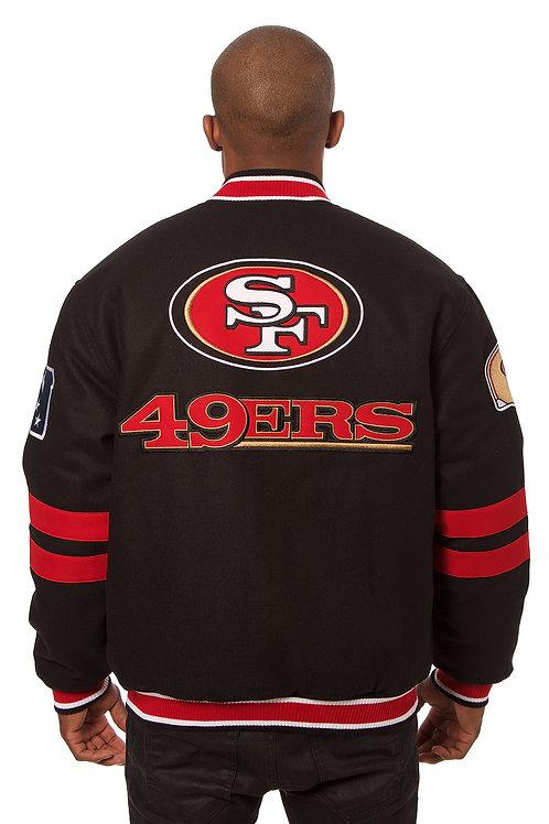 49er Imported Reversible Wool Jacket w/ Nylon