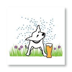 Beer Garden Dog