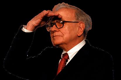 Warren Buffet looks at the horizon