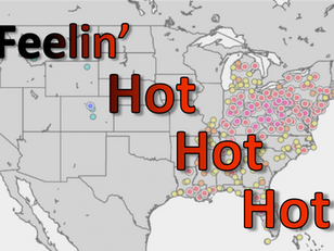 Temperature Records Shattered in the East