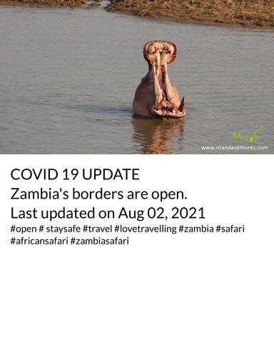 COVID-19 UPDATE FOR ZAMBIA