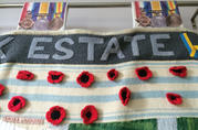 Detail - poppies and medals - Pip, Squeak and Wilfred