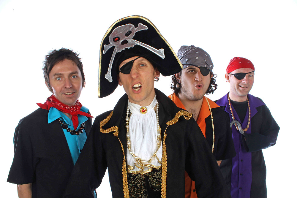 Johnny and the Raindrops dressed as pirates