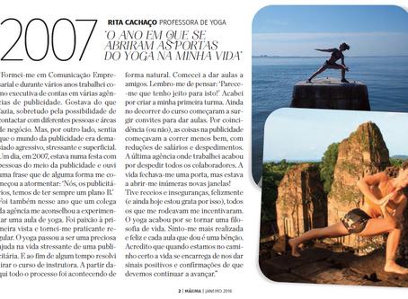O meu testemunho na Revista Máxima de Janeiro