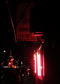 Pink Lights on Bowery