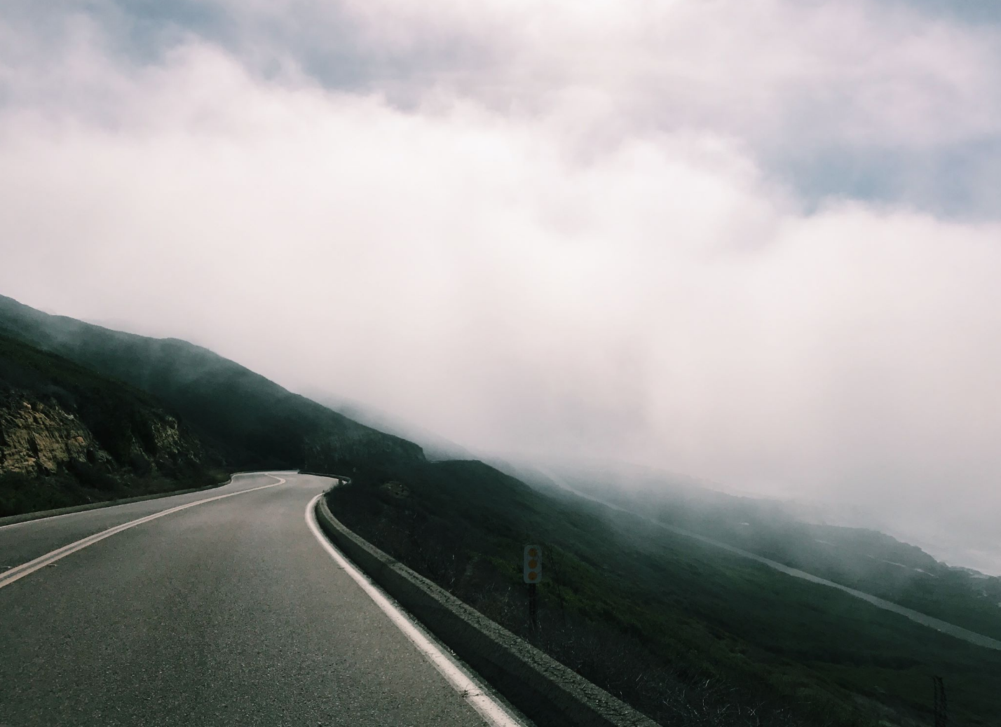 Misty Road to the Pacific