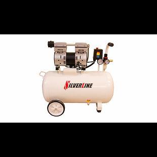 SILVERLINE compresor-libre-de-aceite-1-h