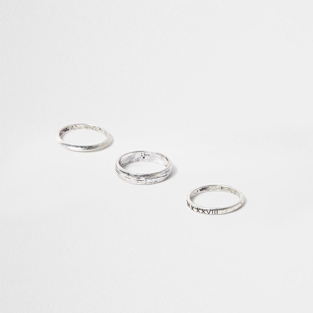 River Island Men's Silver Rings