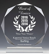 kapowui surf lessons award best surf surf school venice beach california
