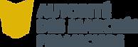 Logo de l'Autorité des marchés financiers, aussi appelée l'AMF. Cabinets de courtiers tels que, Assurances Groupe Concorde, sont régis par l'AMF.