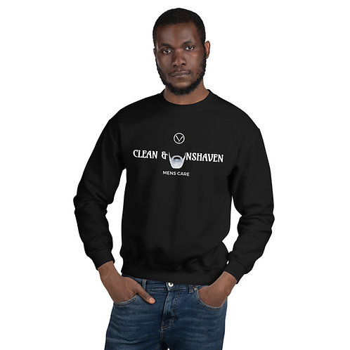 Unisex Clean & Unshaven Logo Sweatshirt