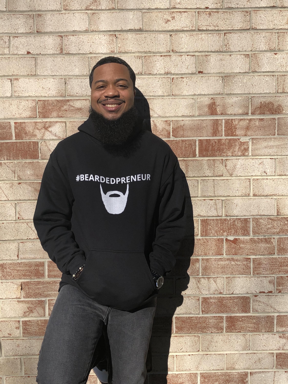 Black #BEARDEDPRENEUR Hoodie