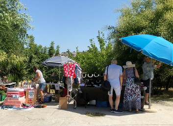 Strolling along looking for a nice bargain at T.A.P.A.S SUMMER FAIR