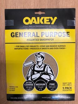 General Purpose Assorted Sandpaper