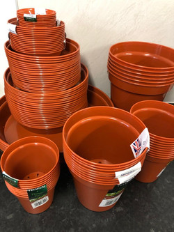 Various Stewart Pots and saucers