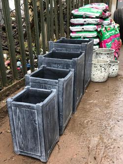 Grey Flower Pots