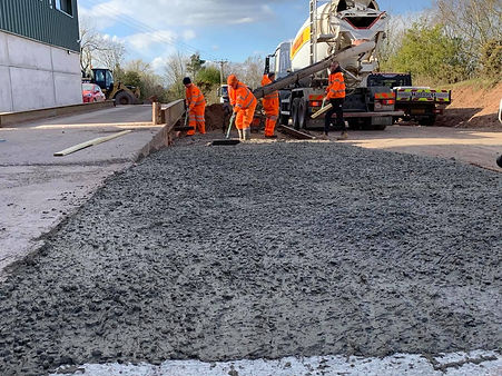 Concrete being layed