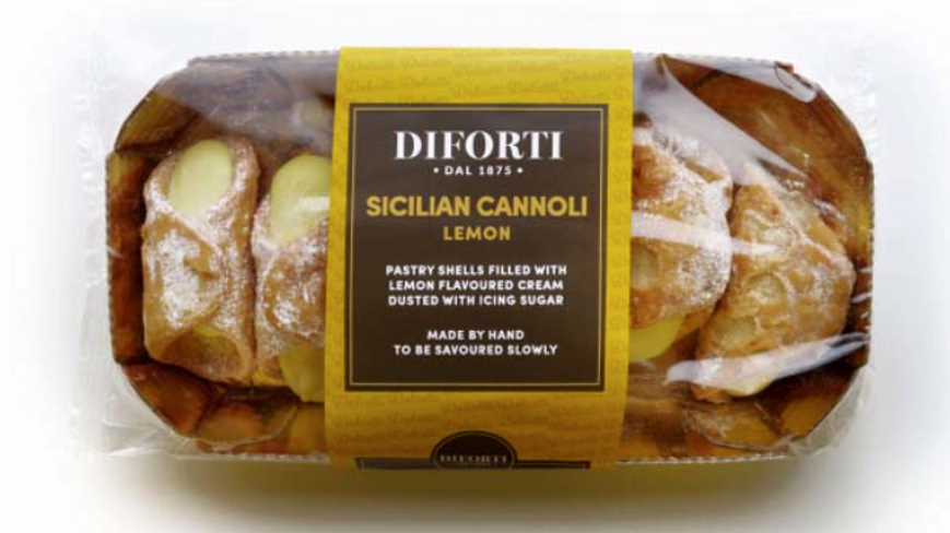 Diforti Sicilian Cannoli with Lemon Cream Pack of 6 150g (£/pack)