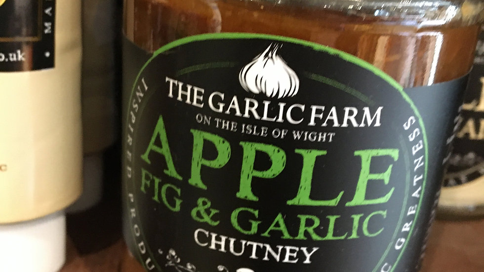 The Garlic Farm Apple, Fig & Garlic Chutney 282g (£/each)