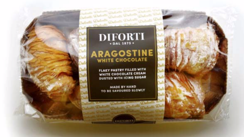 Diforti Aragostine with White Chocolate Cream Pack of 6 150g (£/pack)