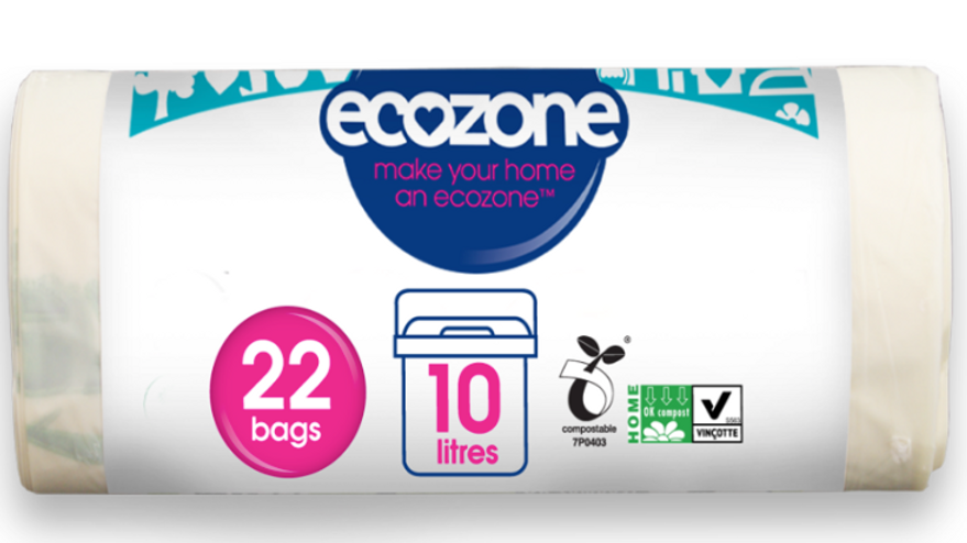 Ecozone Compostable Caddie Liners 22 sacks/each 10 litres (£/roll)