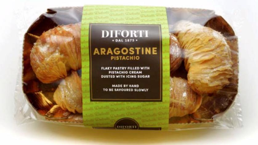 Diforti Aragostine with Pistachio Cream Pack of 6 150g (£/pack)