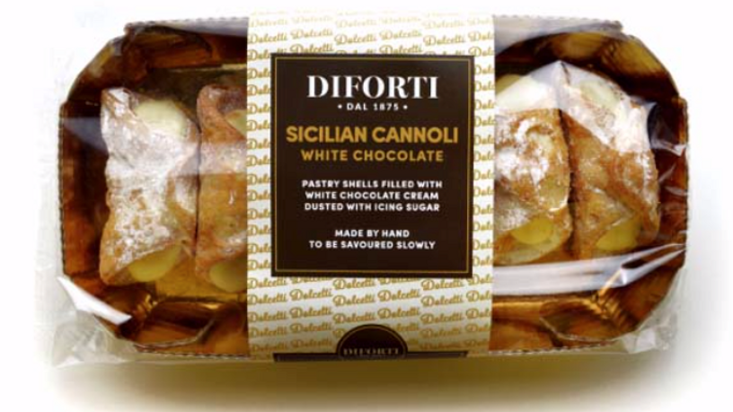 Diforti Sicilian Cannoli with White Chocolate Cream Pack of 6 150g (£/pack)
