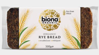 Biona Organic Rye Bread 500g (£/each)
