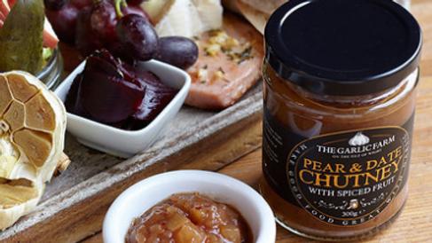 The Garlic Farm Pear & Date Chutney with Spiced Fruit 300g (£/each)
